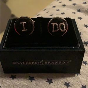 """Smithers and Branson """"I Do"""" Cuff Links"""